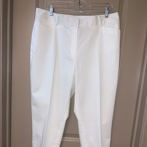 Brooks Brothers White Cropped Chinos